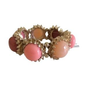 Anthropologie peach and gold bracelet